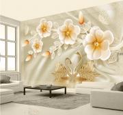 Tranh dán tường Hoa 3D Phòng ngủ BE167