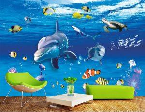 Tranh dán tường 3D Phòng trẻ em BE165