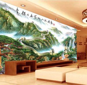 Tranh dán tường 3D Phòng khách BE158
