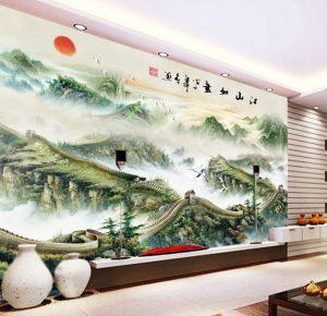 Tranh dán tường 3D Phòng khách BE157