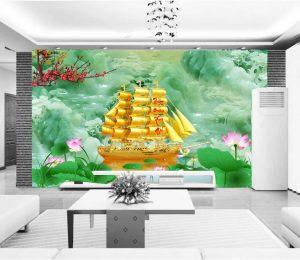 Tranh dán tường 3D Thuận buồm xuôi gió BE145