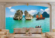 Tranh dán tường Hà nội Phong cảnh BE172